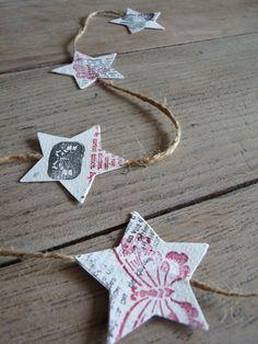 star garland...imagine circles of great scrapbook paper
