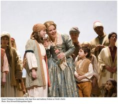 Renee Fleming as Desdemona with her daughter a member of the Met Opera's Children's Chorus