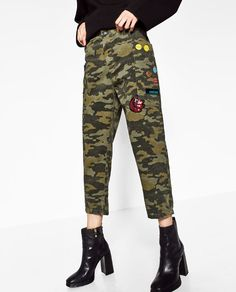 Image 3 of MILITARY CARGO TROUSERS from Zara