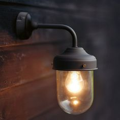 I've just found Barn Lamp Wall Light In Coffee Bean. This simply designed exterior wall light looks good in country and urban environments alike. Barn Lighting, Outdoor Wall Lighting, Industrial Lighting, Outdoor Walls, Modern Lighting, Backyard Lighting, Outdoor House Lights, Lighting Design, Conservatory Lighting
