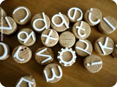 How to make Cork letter stamps with craft foam - thanks, michele! Ceramic Techniques, Pottery Techniques, Cork Letters, Make Your Own Stamp, Foam Stamps, Clay Texture, Alphabet Stamps, Stamp Carving, Handmade Stamps
