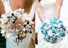 deco mariage, bouquet mariée, bouquet papier ,design tendance,Id-deco