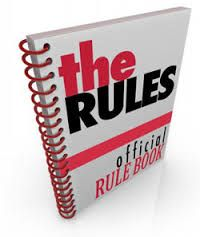 a spiral bound book marked the rules filled with official instructions directions and commandments as the organization or team's rule book The Rules, How To Do Magic, Bound Book, Sleep Apnea, Small Groups, The Magicians, Bookmarks, Ministry, Hold On