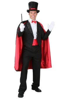 Female version of this. Tight black pants, red band and bow tie, plus cape and nice fitting coat