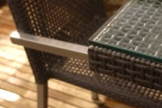 Croco weave and glass top. Dining Tables, Outdoor Dining, Contemporary Garden Furniture, Garden Table, Rattan, Weave, Detail, Glass, Top
