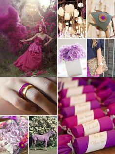 Fuschia fairytale wedding inspiration.