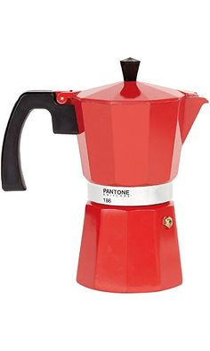 Pantone Coffee Percolator 6 Espresso Cup Strong Red Best Price