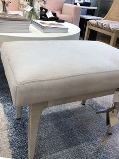 The Winston Stool in Grey from Bungalow 5 captures a modern design with a stylish update. A genuine leather cushion, expertly stitched, displays the quality of the craftsmanship. This versatile and luxurious stool can be used as an ottoman, side table or extra seating for entertaining.