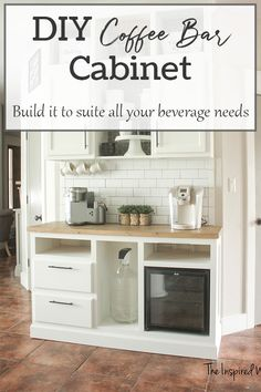 DIY Coffee Bar Cabinet - Beverage Bar