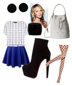 """""""Geo shapes"""" by diorartist on Polyvore featuring Myne, Christian Louboutin, Pretty Polly, Marc by Marc Jacobs, Alexander McQueen and AeraVida"""