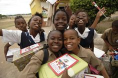 Children in Jamaica receive their shoebox gifts