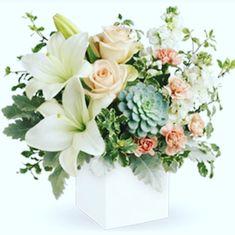 Elegant Flower Arrrangement in soft gentle pastel shades Birthday Flower Delivery, Flower Delivery Service, Flowers Today, Send Flowers, Elegant Flowers, Amazing Flowers, Asiatic Lilies, Dusty Miller, Flowers Delivered