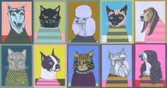 Image result for laura yager cat art