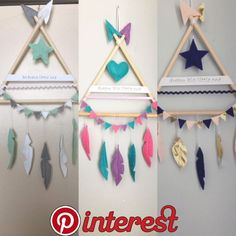 DIY birds of a feather mobile Home Crafts, Diy And Crafts, Arts And Crafts, Diy For Kids, Crafts For Kids, Felt Crafts, Paper Crafts, Dream Catcher Craft, Baby Decor