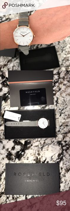 ROSEFIELD BRAND NEW WATCH Never been worn!! Super cute!! Band can come off and be switched out with other bands! rosefield Accessories Watches