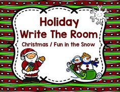 FREE Write The Room-Christmas & Winter  This set includes two write the room activities.  Each has 12 cards and a recording sheet.  Great activity to get your students up and moving during this busy season.  My freebie to you to help make the holiday season a little easier!!!