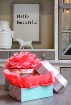 My Sweet Savannah: ~ DIY ribbon covered Valentine's box~{& a winner}