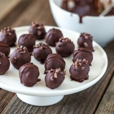 Vegan Double Chocolate Truffles...  Sometimes, it's the simple things.
