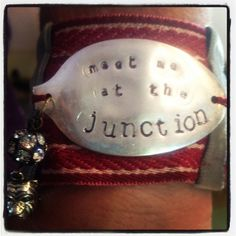 Blu Gertrude — Meet me at the Junction Fabric cuff