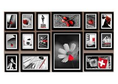 15Pcs Wood Creative Combination Wall Mounted Photo Frame Art Home Decor lauc122