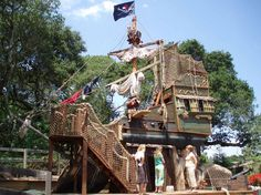 Custom Tree Houses - Custom: Gunsmoke Galleon - We packed a lot of punch into a small space with this pirate ship play structure! Pirate Decor, Pirate Art, Goat Playground, Magic House, Nautical Theme, Play Houses, Pirates, Treehouse Ideas, Children's Museum