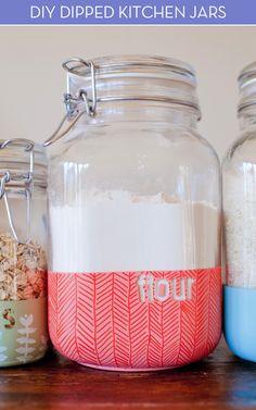 DIY Dipped Jars - clever