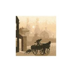 The Coalman cross stitch kit from Heritage Crafts Silhouette series will transport you back in time. The sepia toned silhouetted design is a wonderful stitch for an intermediate or advanced stitcher. Heritage Crafts, Cross Stitch Kits, Past, Silhouette, Embroidery, Design, Past Tense, Needlepoint