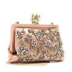 Valentino Glam Flower Satin Clutch