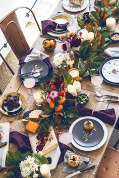 Table de fête au naturel