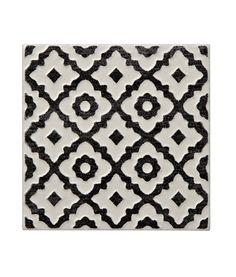 Batik Pattern Black Tile