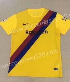 90db6a54876 2019-2020 Barcelona Yellow Thailand Soccer Jersey AAA-417