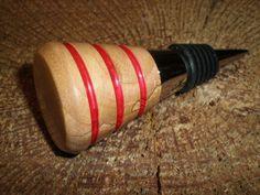 Spalted Ash Bottle Stopper  #T14-12014 on Etsy, $22.00
