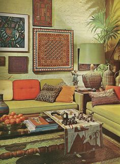 60s Home Decor vintage mod home decor 1970s orange living room with bareating area on the 1970 S 1971 Houseideas Vintage Homes Wall Art Home Sweet Home 60 S For The Home