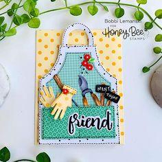 Paper Craft Supplies, Paper Crafts, Honey Bee Garden, Scrapbook Cards, Scrapbooking, Honey Bee Stamps, Bee Cards, Shaped Cards, Love Stamps