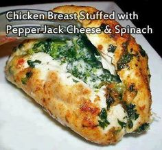 Chicken stuffed with spinach and cheese