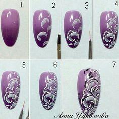 Interested In Arts And Crafts? Read This First Nail art tutorial Lace Nails, Flower Nails, Painted Nail Art, Nail Patterns, Manicure E Pedicure, Nail Art Galleries, Nail Tutorials, Nail Stamping, Perfect Nails