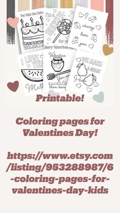 Family Fun Day, Learning Time, Awesome Gifts, Take The Cake, Love Valentines, Coloring For Kids, Printable Coloring Pages, Creative Design, Best Gifts