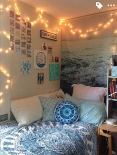 Colors ! , pillows, lights, picture tapestry ?