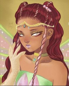 Kawaii Disney, Bloom Winx Club, Cartoon As Anime, Cartoon Art, Les Winx, Anime Triste, Barbie Images, Black Characters, Girls Series