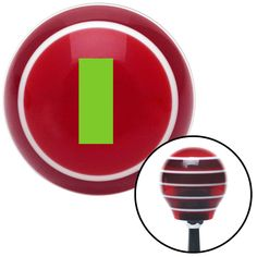 Green Officer 01 2n Lt and 1d Lt Red Stripe Shift Knob with M16 x 15 Insert
