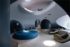 The Bubble Palace 1970  The futuristic mansion was designed by Pierre Cardin and architect Antti Lovag  French Riviera, France, 1970