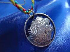 """Items similar to Lion Copper Cut Coin Ethiopia Pendant by """"The Coins Shop"""" on Etsy"""