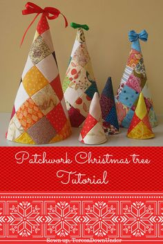 Patchwork Christmas tree softie - easy project