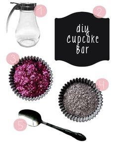 DIY Cupcake Bar... Definitely doing this this summer