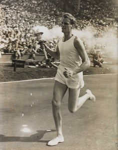 John Mark Olympic Torch Bearer, London, 1948. by National Media Museum, via Flickr