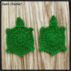 crochet turtle applique pattern!