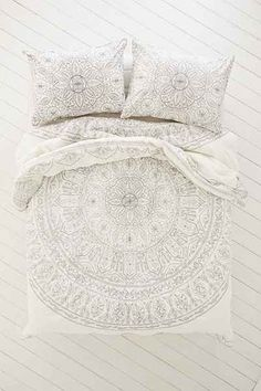 Q Bedding - Soukay Delicate Comforter. Maybe lay a foundation that's neutral and light, and add some colorful pillows, rug, and throw blanket.