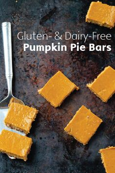 Pumpkin pie is almost a dessert requirement on Thanksgiving, but sometimes we find ourselves wanting to shake things up. With a delicious crust, made with walnuts, oats, and dates, and a creamy, moist filling, these Gluten-Free, Dairy-Free Pumpkin Pie Bars are positively scrumptious.
