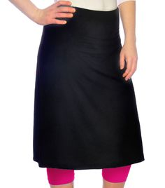 Modest Exercise/Swim Skirt with built in Contrast Color Leggings. Price: $42