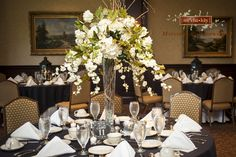 Wedding, white hydrangeas, table scape, wedding reception table ideas